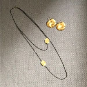 Vintage style necklace and earring set
